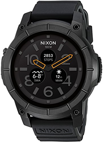 Nixon 'Mission' Smartwatch, Color: Black (Model: A1167-001)
