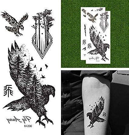 Oottati Tatuajes Temporales Águila (2 hojas): Amazon.es: Belleza