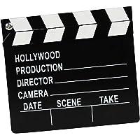 TOYANDONA Filme Claquete de Madeira Ripa Prop para O Teatro Photo Booth Prop Decorações Do Partido Do Tema Do Filme de…