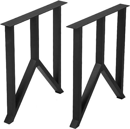 2PCS Black 16/'/' Industry Coffee Table Legs Metal Steel Bench Legs DIY Furniture