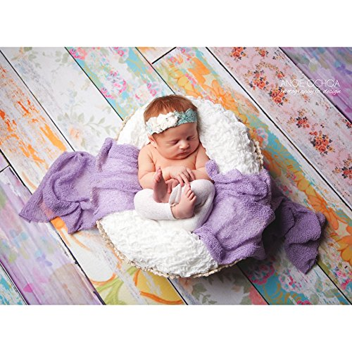 Classic Floral Planks Photography Backdrop - Rubber-Backed Floor Mat - 4ft x 5ft - Backdrop Express