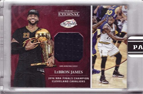 2016 Panini Eternal Relics #PE-LJ1 Lebron James Game Worn NBA Finals Jersey Basketball Card - Cleveland Cavaliers - Only 217 made!