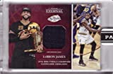 #5: 2016 Panini Eternal Relics #PE-LJ1 Lebron James Game Worn NBA Finals Jersey Basketball Card - Cleveland Cavaliers - Only 217 made!