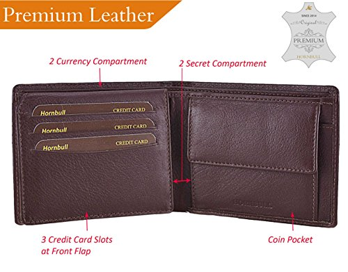 Hornbull Men S Brown Stella Genuine Leather Rfid Blocking Wallet