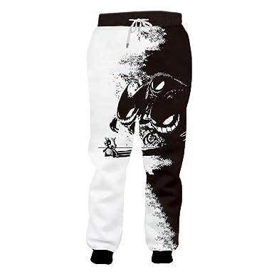 PantalóN Hombre Caliente Flojo Blanco Y Negro Deportes Pantalones ...