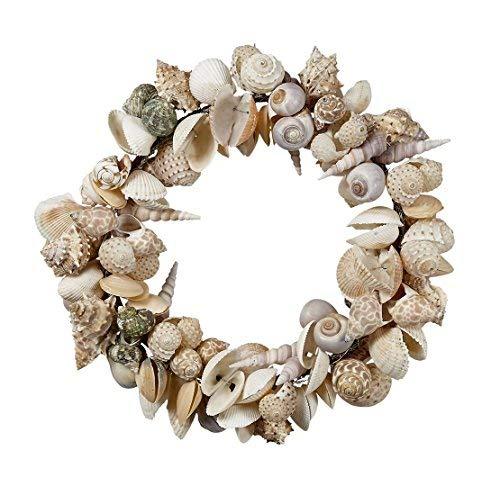 """11"""" Shell Wreath-Large Seashells, Coastal Beach Home Decor, Christmas Ornaments, Weddings & more"""