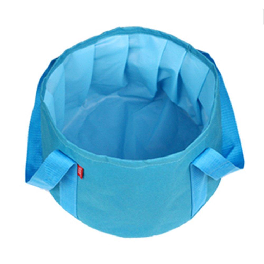 BEETEST M/últiples funciones al aire libre viajes Camping Senderismo 15L port/átil plegable agua cubo ba/ñera Azul