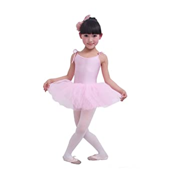 8f8a7767f5c1 PINK  Lace Up Plain Ballet Dress Lycra Child Ballet Leotard Tutu ...
