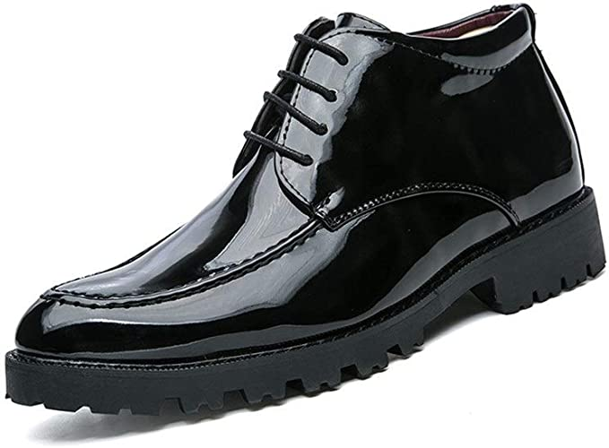 Mens Fashion Trend Color Low top Business Oxford Casual Personality Patent Leather Formal Shoes CHENDX Shoes