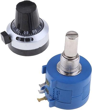 3590S-2-103L Potenziometro multigiro regolabile da 50K con manopola rotativa