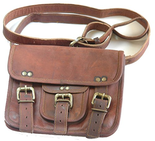 College Special – Handmade Genuine Leather Mini Messenger Wide Bag for Holding Essentials Safe and Secure on Campus. (3.2)