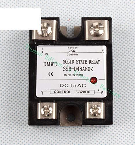 Halbleiterrelais DC-AC Industrie SSR-80DD 80A 3-32 V DC bis 5-60 V DC