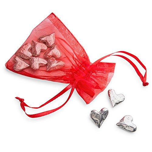 Vilmain Pewter Original Heart Pocket Tokens, Bag of 10 Pocket Coins - Danforth - Figurine Heart Pewter
