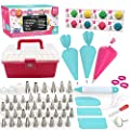 Cakebe 68 pcs Cake Decorating Kit - Cake Decorating Supplies with Cute Storage Box - New Baking Supplies with 36 Numbered Decorating Tips and 12 Icing Bags - Cake Decorating Tools with Pattern Chart