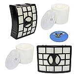 HQRP 2-pack Filter Kit for Shark Rotator XHF650 XFF650 Replacement (HEPA + Foam&Felt) fits Shark Rotator NV650 NV750 series Lift-Away Vacuums + HQRP Coaster
