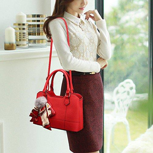 PU Multifunction ZHI Bag Crossbody Handbag Bag Shoulder Large Large Handbag WU Joker Bag Women Capacity Red 7xdEw7B