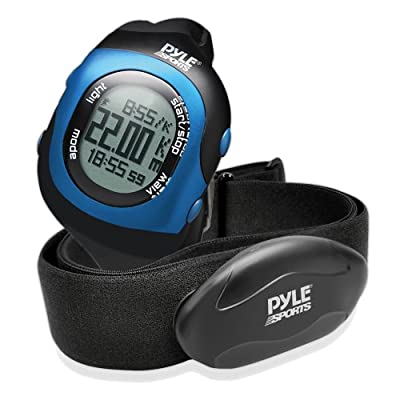 Pyle Health PSBTHR70BK Bluetooth Fitness Heart Rate Watch and Monitor with Training Sensor Data Transmission