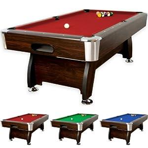 8 ft Billardtisch Premium, Korpus dunkles Holzdekor, 3 Farbvarianten, Maße...