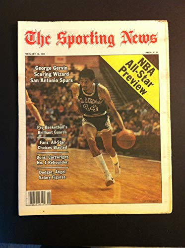 1979 Sporting News February 10 George Gervin San Antonio Spurs Near-Mint
