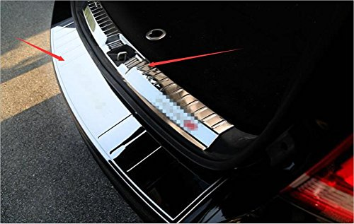 Salusy 2pcs Inner&Outer Rear Bumper Sill Plate Guard Protector For DODGE Journey 2013 (Dodge Sill Protector)