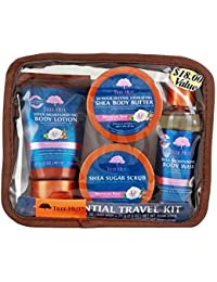 Essential Travel Kit, Moroccan Rose, 4 Items in One Bag, for Nourishing Essential Body Care on The Go!
