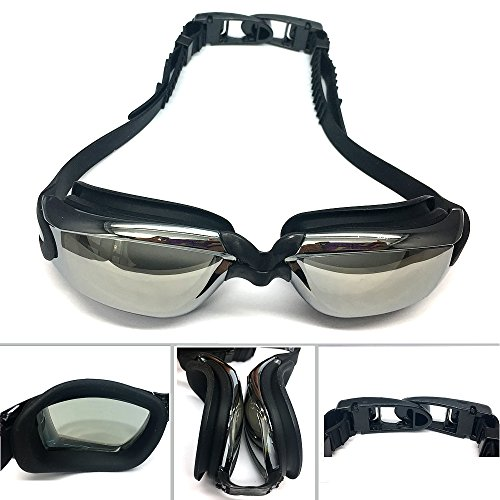 IKING Swim Goggles Swimming Goggles for Adult Men Women Youth Kids Child,UV Protection,Anti Fog Technology (Black)