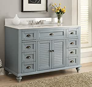 blue bathroom vanity cabinet glennville 49 quot cottage bathroom vanity cabinet set in 12471