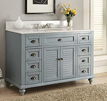 blue bathroom vanity cabinet. Glennville 49 quot  Cottage Bathroom Vanity Cabinet Set in Light Blue GD28328BU