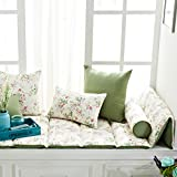 100% cotton Double-sided Bay window Cushion Modern window bench mat sofa mat rug Fold Window sill cushion Luxury retro bay window cushion cover seats living room bedroom balcony mat-A