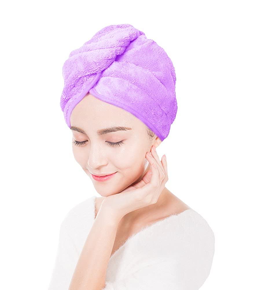 Bllatta Bath Head Wrap Turban Microfiber Hair Dry Towel//Microfiber Magic Hair Drying Shower Hat QT016RR