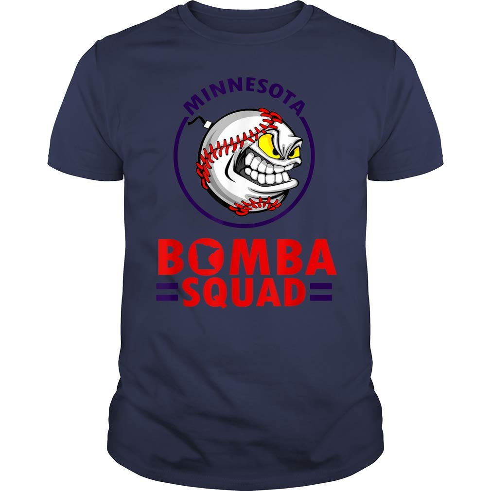 Johmadtees Minnesota Bomba Squad Twins Funny Shirt Gift For Basketball Lover