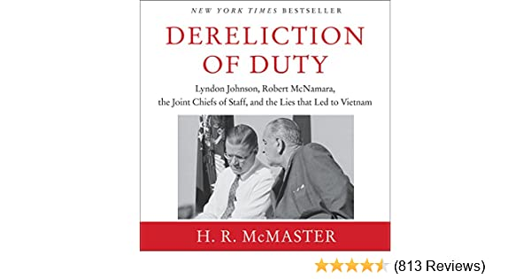 Amazon Dereliction Of Duty Audible Audio Edition H R McMaster HarperAudio Books