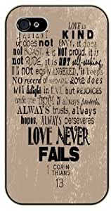 Love ongoing is kind, it does not envy, it does not to boast - Bible verse iPhone 5 / 5s black plastic case - 1 Corinthians A 13 in &hong hong customize
