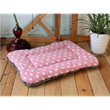 The Best U Want Color polka dot thicking pet pad kennel cat litter mat bed pad Pink Extra Large