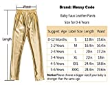Messy Code Baby Girls Pants Faux Leather Leggings