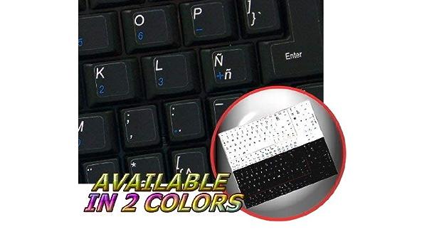 Pegatinas para teclado en español latinoamericano sobre fondo ...