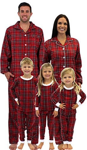 Plaid Family Matching Flannel Pajamas by SleepytimePjs (Kids 4T)
