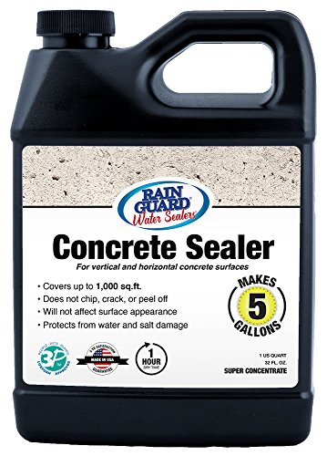 (Rainguard International SP-4003 32 Oz Concentrate (Makes 5 Gallons) Premium Grade Concrete Sealer, Water Repellent Protection for Concrete Surfaces )