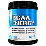 Evlution Nutrition BCAA Energy - High Performance, Energizing Amino Acid Supplement for Muscle Building, Recovery, and Endurance, Blue Raz (65 Servings)