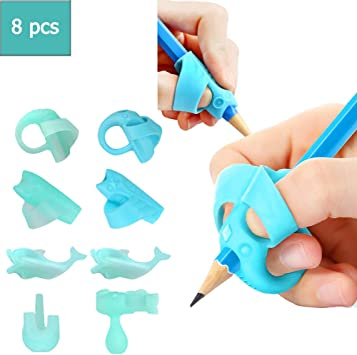 10 PCS Pencil Grips for Kids Handwriting for Preschool,Silicone Ergonomic Pen...
