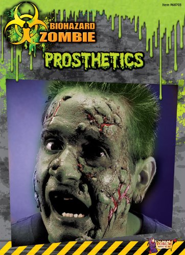 Biohazard Zombie Costume Makeup Facial Prosthetics Select Size: One Size (2)