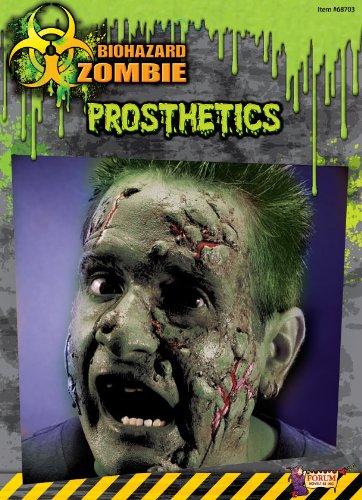 [Biohazard Zombie Costume Makeup Facial Prosthetics Select Size: One Size] (Zombie Prosthetics)
