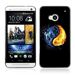YOYOSHOP [Fire Water Elements of Yin & Yang] HTC One M7 Case