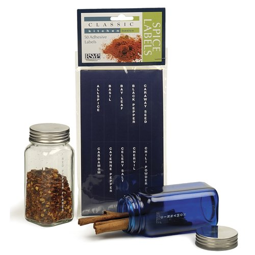 Clear Verticle Spice Labels - Set of 50