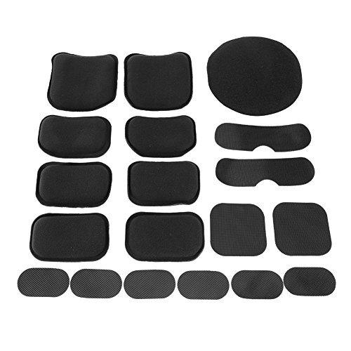 Tactical Helmet Pads 19pcs/set Soft and Durable EVA Motorcycle Helmet Replacement Accessories -