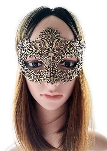 [Coolwife Women's Sexy Venetian Ball Lace Masquerade Masks For Nightclub Dance Fancy Ball Halloween] (Soft And Sexy Mask)
