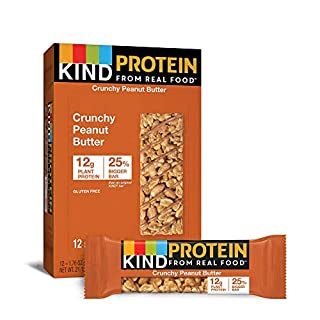 KIND Protein Bars, Crunchy Peanut Butter, Gluten Free, 12g Protein,1.76Ounce, 12 count