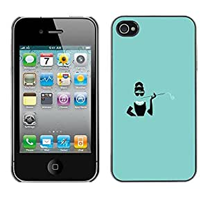Design for Girls Plastic Cover Case FOR iPhone 4 / 4S Green Movie Star Poster Minimalist Vintage OBBA