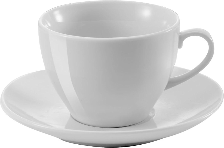 Esspresso Tassen 80 oder 100 ml Kaffeetassen 230 ml Neutral Wei/ß Untertassen Kaffee Tasse Klassik aus Porzellan 15 x 7,4cm