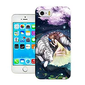 LarryToliver Cats and tigers iphone 5C Hard Back Shell Case Cover Skin for iphone 5C Cases - Customizable Cats and tigers